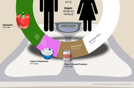 What Exactly Do We Eat/Consume Per Year? [infographic]