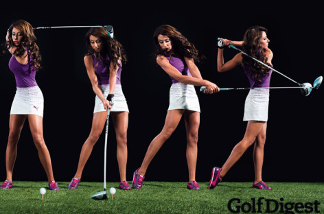 Holly Sonders To Grace Cover of Golf Digest