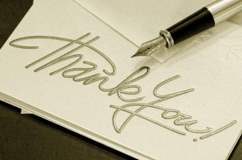 Sending Thank You Cards the Old-Fashioned way but without Leaving Your Seat