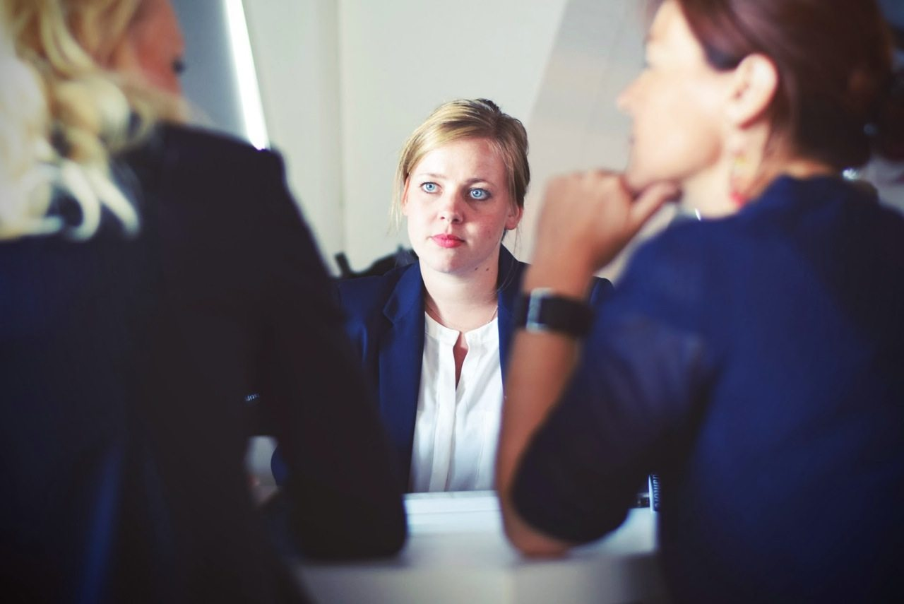 Woman in business meeting